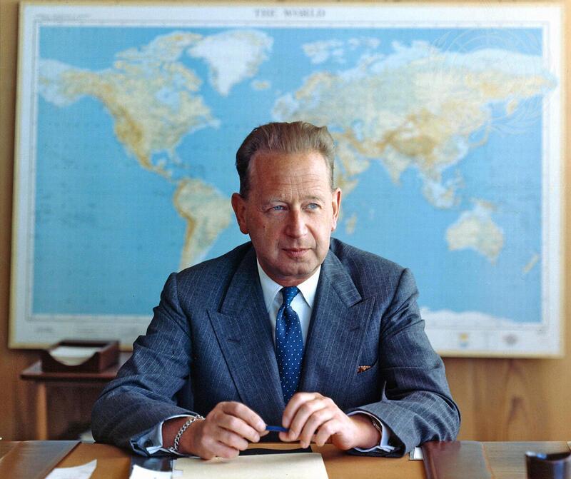 Portrait of Dag Hammarskjöld, Secretary-General of the United Nations./UN Photo
